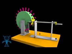 Reciprocating Wheel and Pins Mechanism 3D Model - YouTube