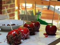Make Homemade Candy Apples >> http://www.hgtvgardens.com/recipes/sugar-rush-make-your-own-candy-apples?soc=pinterest