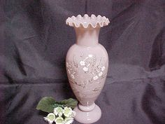 Victorian Clam Broth Bristol Glass Vase Blown by GlassLadyAtHome