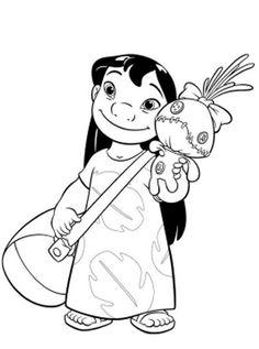Desenhos para colorir Lilo e Stitch 56