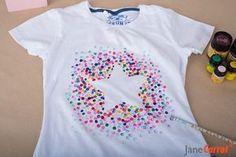 Heute stempeln wir ein T-Shirt schöner! Mehr