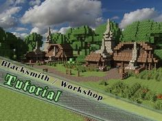 Minecraft Tutorial How To Build A Medieval Blacksmith Workshop
