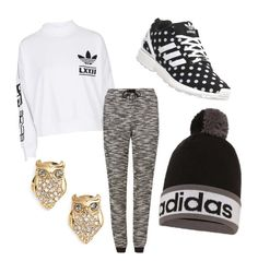"""""""adidas"""" by ahriraine ❤ liked on Polyvore featuring adidas, M&S, Kate Spade, women's clothing, women's fashion, women, female, woman, misses and juniors"""