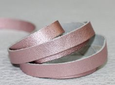15mm Leather Strap Metallic Pink Genuine Leather Cord  1 Yard by JLLeatherSupplies on Etsy