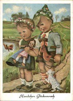 34989 schöne Arnulf Glückwunsch-Postkarte 1949 | eBay