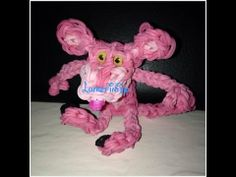 Rainbow Loom PINK PANTHER. Designed and loomed by Ashley at Lumefinity. Click photo for YouTube tutorial. 05/05/14.
