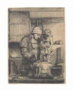 van Rijn , The Goldsmith Rembrandt Etchings, Vintage World Maps, Van, Painting, Vans, Painting Art, Paintings, Drawings