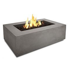 Real Flame Baltic 50 In. Rectangle Natural Gas Fire Table in Glacier Gray at Lowe's. Define your outdoor space with the clean design of a Real Flame Baltic rectangular Natural Gas fire table. Cast from a high performance, lightweight Propane Fire Pit Table, Gas Fire Pit Table, Outdoor Fire Pit Table, Agaves, Home Depot, Natural Gas Fire Pit, Fire Pit Ring, Modern Fire Pit, Wood Burning Fire Pit