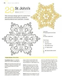 New Free of Charge Crochet Flowers christmas Style If you realise the best way to crochet a bloom, then you can definitely create numerous projects. Crochet Snowflake Pattern, Crochet Stars, Christmas Crochet Patterns, Crochet Snowflakes, Crochet Mandala, Cute Crochet, Irish Crochet, Crochet Motif, Beautiful Crochet