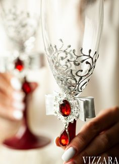 Burgundy Wedding Colors, Burgundy And Gold, Wedding Flutes, Wedding Glasses, Toasting Flutes, Champagne Flutes, Red Wedding Dresses, Large Candles, Unity Candle