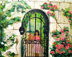 """Title: """"The IVY Beyond the Wall"""" From the Painting Series """"I AM an AKA!"""""""