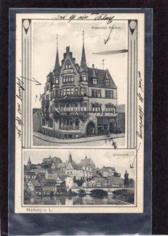AK-MARBURG-Lahn-Restaurant-Fronhof-tolle-Jugendstilkarte-1912