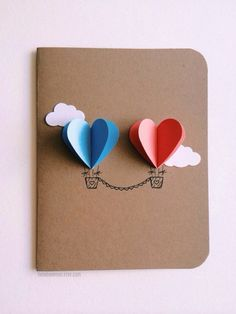Cute card with hearts