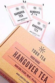 Tea to nurse you back from being hangover to feeling fabulous//