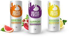 Bear Fruit drink range #packaging