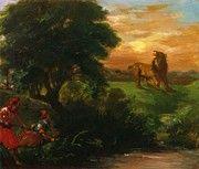 """New artwork for sale! - """" The Lion Hunt 1859 by Delacroix Eugene """" - http://ift.tt/2AkQAcs"""