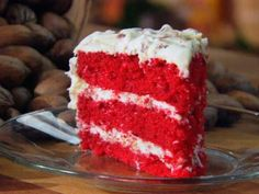 Use the frosting from this recipe, but use the cake from: http://www.foodnetwork.com/recipes/paula-deen/grandmother-pauls-red-velvet-cake-recipe.html