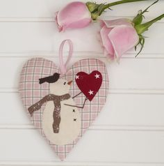 = free pattern = Snow Happy Hearts for February at Bunny Hill Designs