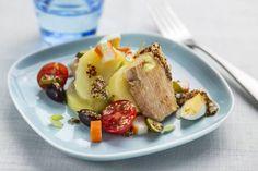 Insalata patate, frutti di mare e senape #Star #ricette #insalata #patate #fruttidimare #senape #pesce #food #recipes