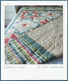Vintage Inspired Cottage Quilt  Reversible by A2SeaCreations on Etsy