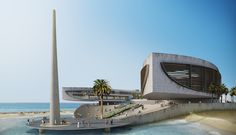 Memorial in Dakar (Senegal) was a design proposal for a competition back in 80′s. Memorial and museum dedicated to deportation of slaves from Senegal in Africa.