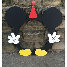 Mickey Mouse Photo Booth Prop by AllThingsBrittney on Etsy