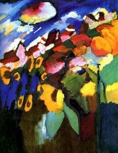 Murnau Garden - Wassily Kandinsky.                                                                                                                                                                                 More