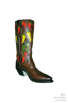 Ideal for our zesty customers, the Chili Pepper is ready to rumble! Material Shown: Kangaroo Additional Features: Toe bug Height: 14 inches Toe: A Heel: 3 Custom Cowboy Boots, Custom Boots, Western Boots, Ready To Rumble, Designer Boots, Leather And Lace, Inventions, High Heels, Pairs
