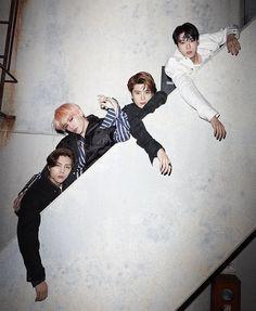 Johnny, Taeyong, Jaehyun, and Doyoung😍 Nct Johnny, Johnny Seo, Jaehyun Nct, Mark Lee, Yang Yang, Winwin, Nct 127, K Pop, Jung Jaehyun