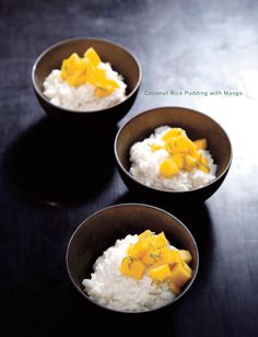 Coconut rice pudding with mango recipe from Sweet Paul Magazine - Winter 2011 - Page 150-151.