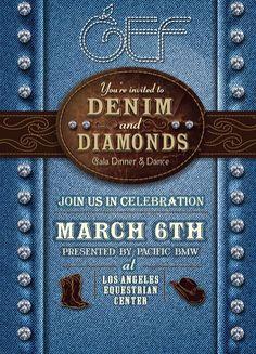 GEF Denim and Diamonds 2015 Invite                                                                                                                                                     More