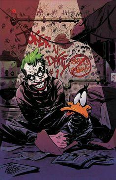 Joker Comic, Joker Pics, Joker Art, Daffy Duck, Cartoon Kunst, Comic Kunst, Cartoon Art, Character Drawing, Comic Character