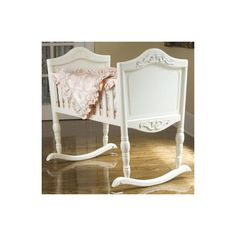 The White Antique Cradle with its ever-so-slightly distressed finish is extremely versatile. Using a cradle for sleeping in the first few months of baby's life is the perfect way to keep him or her close by.