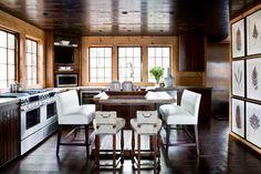 modern chic wood + white kitchen