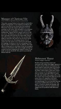Elder Scrolls items turned DnD