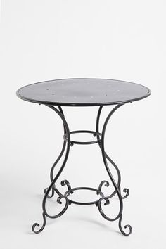 Noir Scroll Bistro Table 4 balcony (mosaic tile-ing piece for art final) @Urban $139