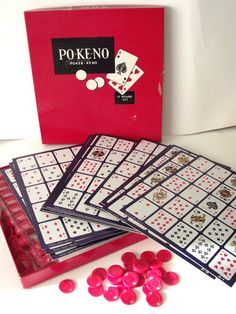 Vintage Pokeno PO-KE-NO Poker Keno Vintage Game Set from the U.S. Playing Card Company