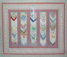 Handerchiefs - I wish I knew how to do this! I have vintage handerkerchiefs.
