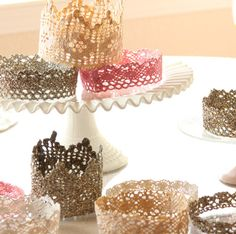 I love these crowns made from lace and fabric stiffener by Girl Inspired.  #blogher