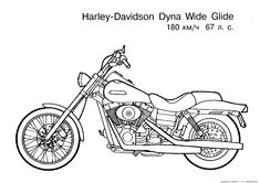 Harley-Davidson Coloring Pages to Print | Free Motorcycle coloring page, letscoloringpages.com, Harley Davidson ...