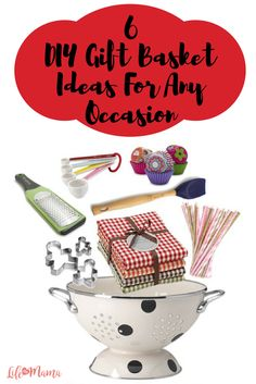 Whether you're in need of a gift for someone's birthday, anniversary or a holiday, these DIY baskets will show your friends and family how much you care. You can personalize these ideas to make them really special, which makes you a really wonderful gift giver!