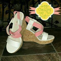 """Spotted while shopping on Poshmark: """"☆Host Pick☆ NWT Joli Wedge - Coral ✂$30✂""""! #poshmark #fashion #shopping #style #JustFab #Shoes"""
