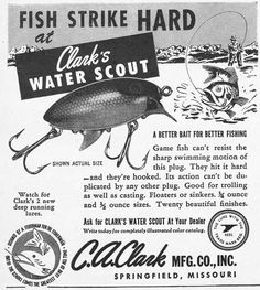 vintage fishing ads - Google Search