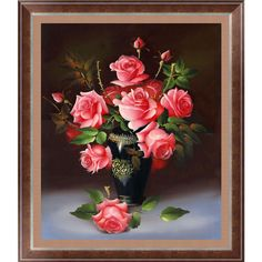 Flower Wall Stickers 5D DIY painting Rose 3D Cross Stitch embroidery