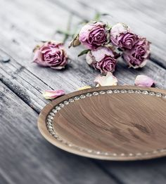 Handcrafted from high quality Walnut Wood and decorated with radiant gemstones, this exclusive tableware offers truly unique dining experience. Plates And Bowls, Serving Plates, Wood Bowls, Dinnerware Sets, Walnut Wood, Natural Wood, Water Damage, Gemstones, Crystals