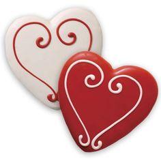 Decorated Sugar Cookies - Valentine's Heart