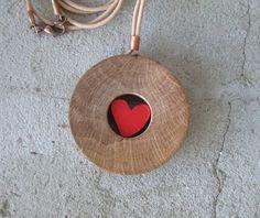 Trapped heart necklace by Stelakastela on Etsy