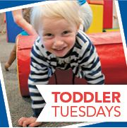 Toddler Tuesday at the Kroc Center.  9-12 For children 4 and under.   Free adult admission with $5.50 childrens admission.   Please check the website for any date exclusions.
