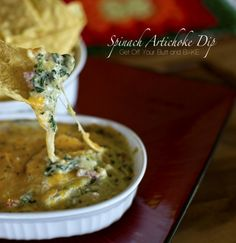 hot cheesy spinach artichoke dip