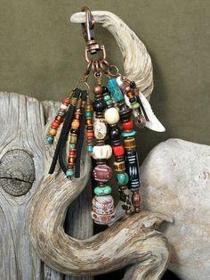 Purse Charm - Zipper Pull - Keychain Tassel - Charm Tassel - Southwest Charms - Belt Loop Clip - Native Tribal Charms